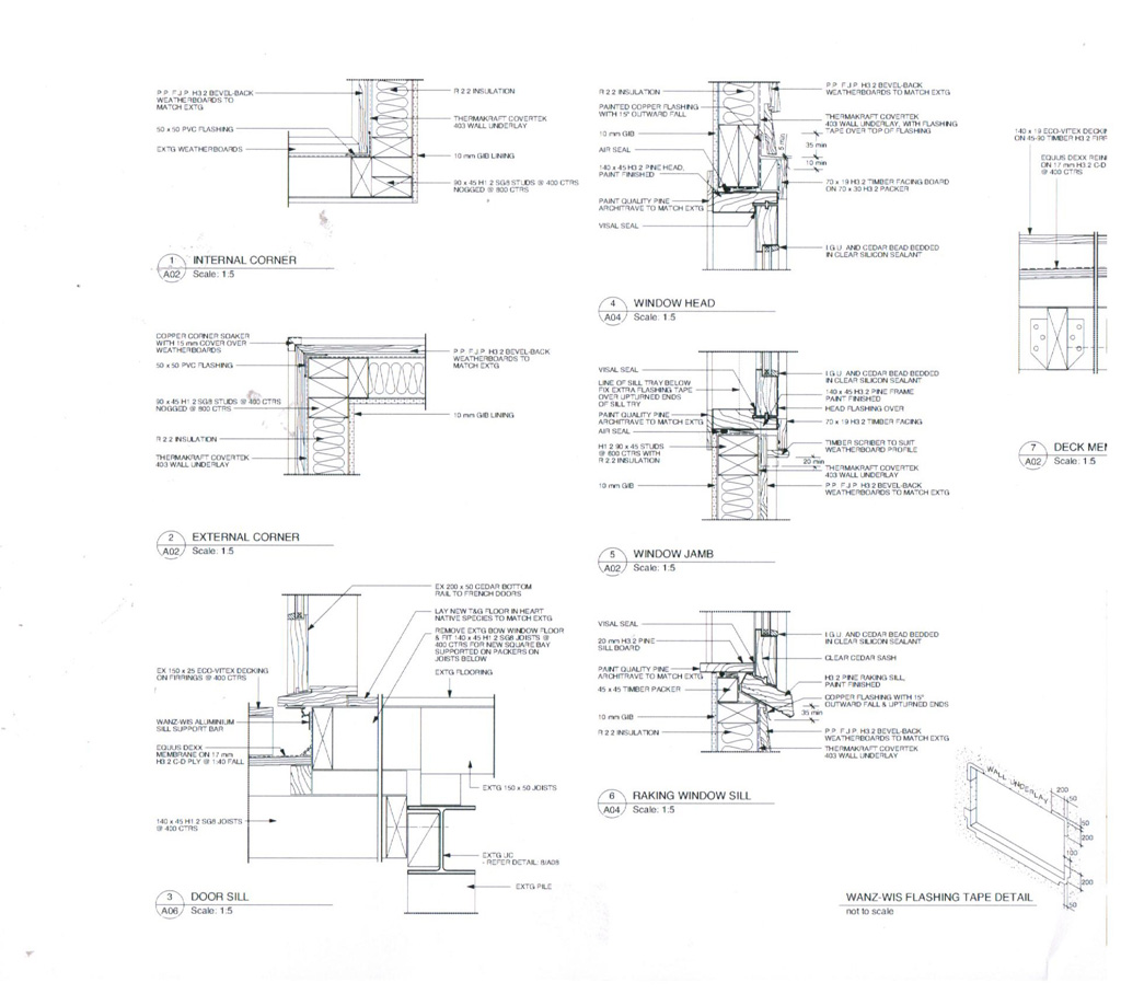 Joinery Cross Sections Amp Flashing Details Westpine Joinery
